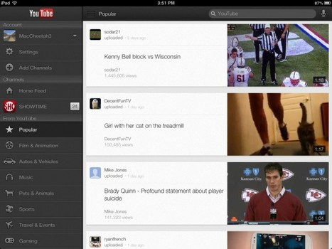 The Official YouTube App Finally Goes Universal | From the Apple Orchard | Scoop.it