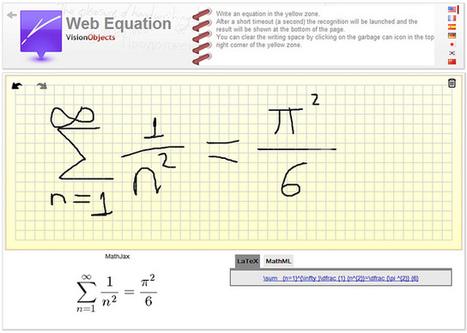 Web Equation, de mano alzada a código LaTeX - Gaussianos   Gaussianos   Al calor del Caribe   Scoop.it