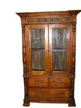 Antique India Furniture Vastu Teak Wood Armoire Cabinet Teak Jaipur FREE SHIP | Mogul Interior | Vintage Style Decor With Antique Furniture | Scoop.it