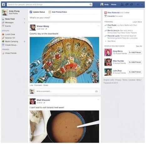 Le Nouveau Fil d'Actualité de Facebook Arrive Enfin un An Après ! | Emarketinglicious | Inbound marketing | Scoop.it