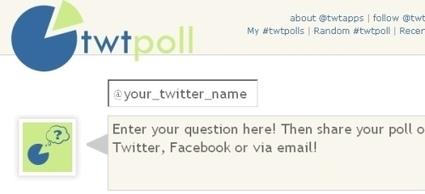 7 herramientas online para crear encuestas en Twitter. #socialmedia #twitter | Twitter | Scoop.it