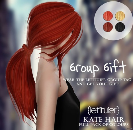 Kate Hair Group Gift by Letituier | Teleport Hub - Second Life Freebies | Second Life Freebies | Scoop.it