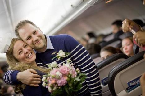A Memorable Unusual Wedding at 35000 Feet in the Mid Air   The Wedding Cards Online   Scoop.it