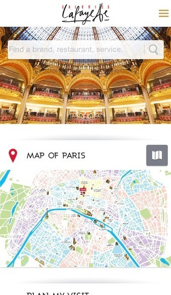 Galeries Lafayette creates in-store trip planner to ease shopping - Luxury Daily - Mobile | Nouvelles tendances de consommation | Scoop.it