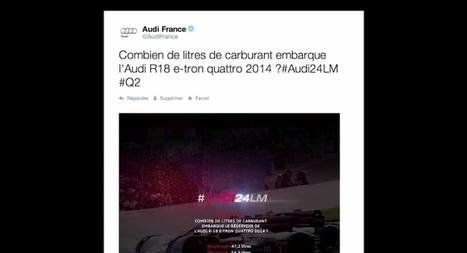 Audi crée le 24h du Mans façon Twitter en vous défi de répondre à ses tweets pendant 24h   streetmarketing   Scoop.it