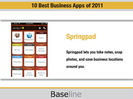 10 Best Business Apps of 2011 - Mobile and Wireless - News & Reviews - Baseline.com   IELTS, ESP, EAP and CALL   Scoop.it