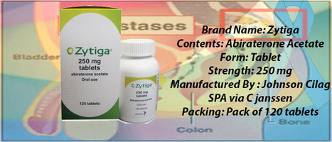 #Zytiga Price | #Abiraterone 250mg Tablets | Generic Prostate cancer Drugs Russia supply | Oncology Medicine Online | Scoop.it