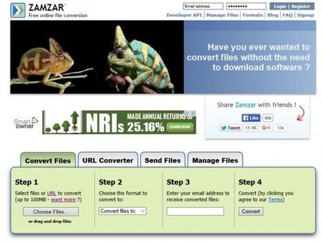 Zamzar: Imprescindible conversor online de ficheros con más de 1.200 formatos y gratis | Coses del Joan | Scoop.it