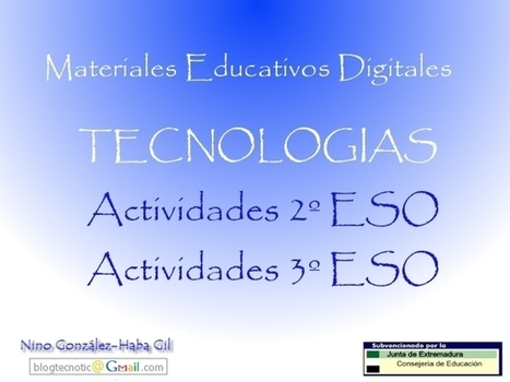 Materiales Educativos Digitales - Tecnologías | tecnología industrial | Scoop.it