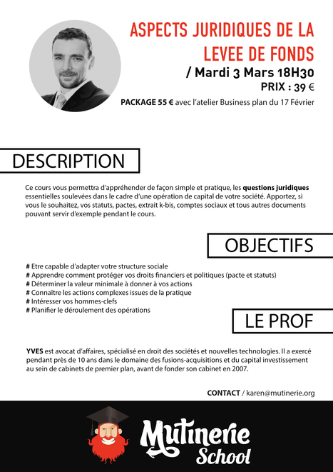 Aspects juridiques de la levée de fonds ! | Mutinerie School | Scoop.it