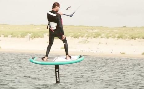 Un foil sur un kitesurf gonflable   L'ECO NAUTISME   Scoop.it