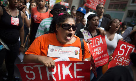 US fast-food workers in vanguard of growing protests at 'starvation' wages - The Guardian | Healthy Food | Scoop.it