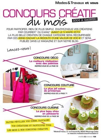 Concours Déco Modes&Travaux  avec des palettes | Palettes | Scoop.it