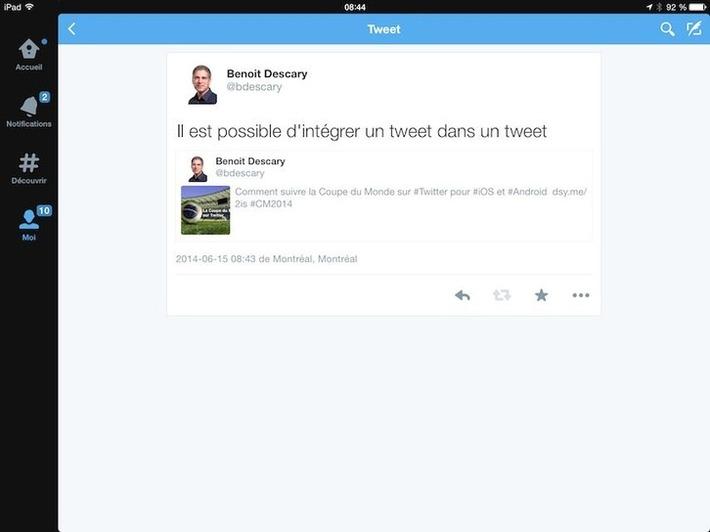 Twitter teste l'intégration d'un tweet dans un tweetDescary.com | TIC et TICE mais... en français | Scoop.it