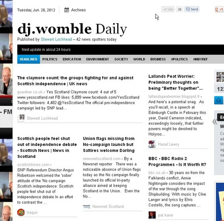 dj.womble Daily Tuesday June 26th. | YES for an Independent Scotland | Scoop.it