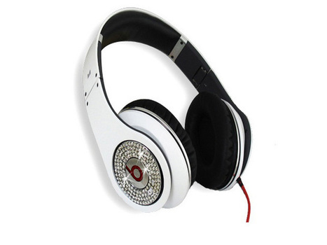 Eye-catching Monster Beats Dr Dre Studio White Diamond Limited Edition Headphones_hellobeatsdreseller.com | Beats Limited Edition Diamond_hellobeatsdreseller.com | Scoop.it