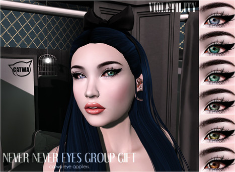 Violetility - Never Never Eyes for Catwa Eyes | 亗 Second Life Freebies Addiction & More 亗 | Scoop.it