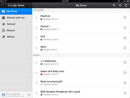Google Drive iPad App Update | iGeneration - 21st Century Education | Scoop.it