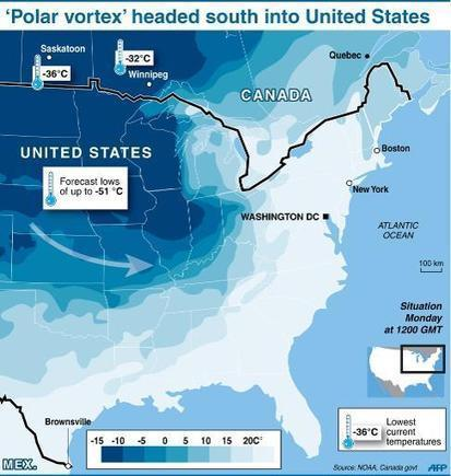 Weakened 'polar vortex' blamed for N. American chill | Sustain Our Earth | Scoop.it