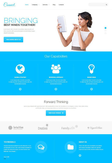 Connect, a Communications Responsive WordPress Template | WordPress Premium Themes | Scoop.it