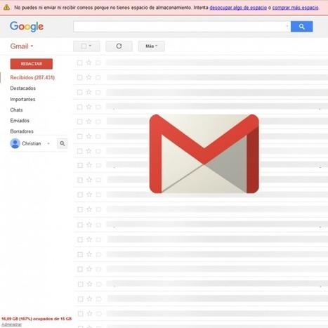 ¿Gmail lleno? 7 ideas para liberar espacio que quizá no conozcas | Educacion, ecologia y TIC | Scoop.it