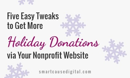 Five Easy Tweaks to Get More Holiday Donations via Your Nonprofit Website | Great Ideas for Non-Profits | Scoop.it