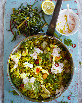 killer kedgeree, beans, greens & chilli yoghurt | Jamie Oliver | Food | Recipes (UK) | jAMIES 15 MINUTE MEALS | Scoop.it