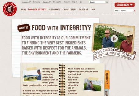 Chipotle: Food With Integrity - Great Example of Save The World Marketing | Collaborative Revolution | Scoop.it