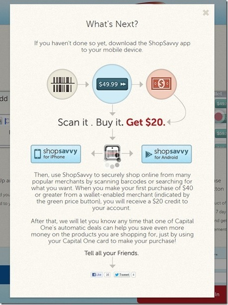Capital One Offers $20 Incentive to Try ShopSavvy Mobile Wallet | Mobile Banking Opportunity | Scoop.it