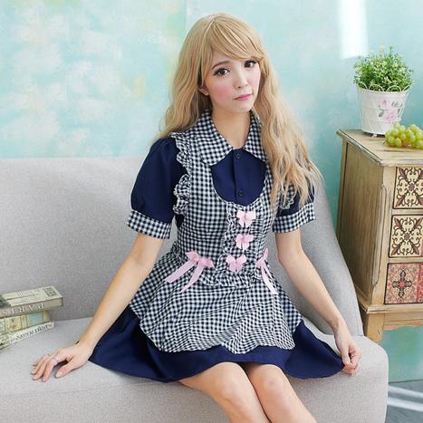 Halloween Maid Plaid Print Apron Dress For Women   Favorite Costumes   Scoop.it