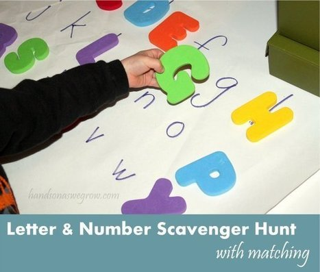 Letter & Number Scavenger Hunt | hands on : as we grow | Learn through Play - pre-K | Scoop.it