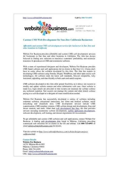 Customized CMS Web Development Solutions San Jose California | Web Development | Scoop.it
