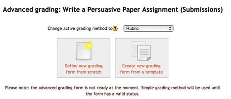 A Great Assessment Tool within Moodle: the Rubric | Using Moodle at Glyndwr | Scoop.it