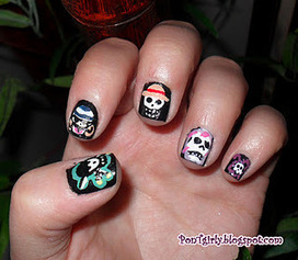 PonTgirly: NAIL ART: ONE PIECE | Vulbus Incognita Magazine | Scoop.it