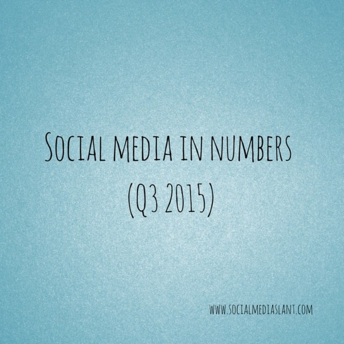 Social media in numbers (Q3 2015) | Business in a Social Media World | Scoop.it