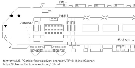 Zonu Train and a bus. | ASCII Art | Scoop.it
