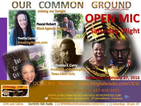 OPEN MIC SATURDAY NIGHT :: 2016 Campaigns  :: MSNBC Black Purge | OUR COMMON GROUND with Janice Graham  ☥ Coming Up | Scoop.it