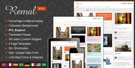 Remal 2.3.1 Responsive WordPress Blog Theme | Download Free Full Scripts | Amazing Videos | Scoop.it