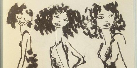Les magnifiques croquis de Sfar pendant un défilé haute couture | INTERSTYLEPARIS  Fashion News | Scoop.it