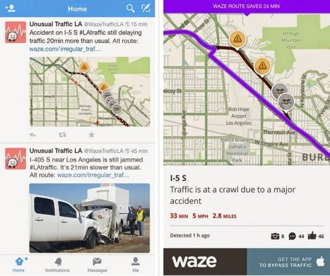 Waze will now tweet unusual traffic alerts through localized Twitter accounts - The Next Web | Location Is Everywhere | Scoop.it