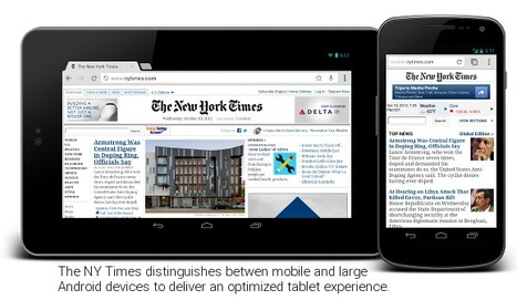 Google parle de l'optimisation pour les tablettes | Lectures web | Scoop.it