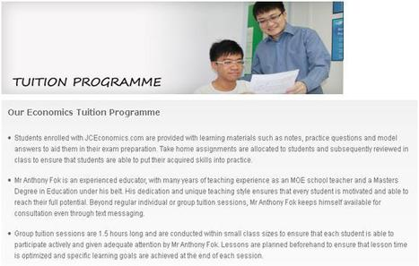 Economics Tuition Programme | JC Economics Tuition | Scoop.it