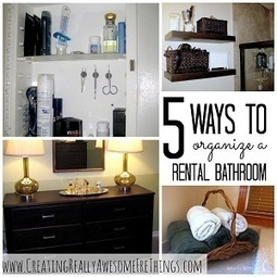 5 Ways to Organize Your Rental Bathroom : Apartment Living | Live Work Play Wilmington Delaware | Scoop.it