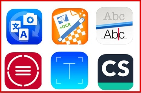 6 Great iPad Apps to Grab Text From Pictures and Turn It to Digital Characters ~ Educational Technology and Mobile Learning | Uppdrag : Skolbibliotek | Scoop.it
