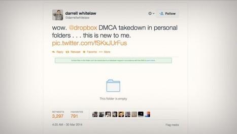 Dropbox détecte et bloque les fichiers sous copyright   Freewares   Scoop.it