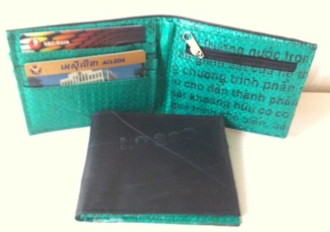 Recycled inner tube men wallets, ethically handmade by home based women workers who are living with HIV/AIDS. | Recycled Inner Tube Products | Scoop.it
