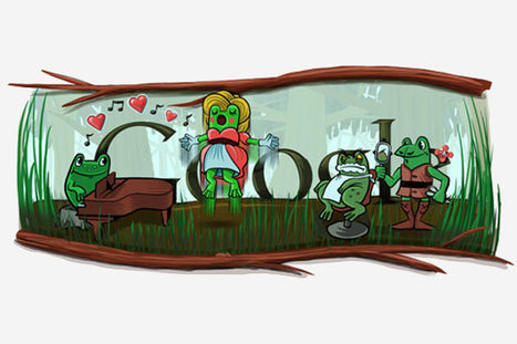 Google doodles frogs on leap day and Italian composer Gioachino Rossini's 220th birthday | Le Marche another Italy | Scoop.it