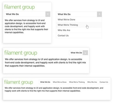 A Responsive Design Approach for Navigation, Part 1 | Filament Group, Inc., Boston, MA | Museum Website Design | Scoop.it
