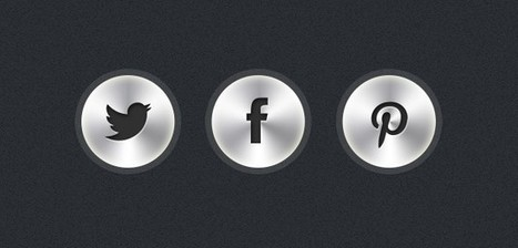 Free PSD: Metallic Button Icons | Resources | Scoop.it