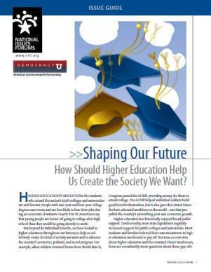 """""""Shaping Our Future"""" National Dialogue Launches Tomorrow! 